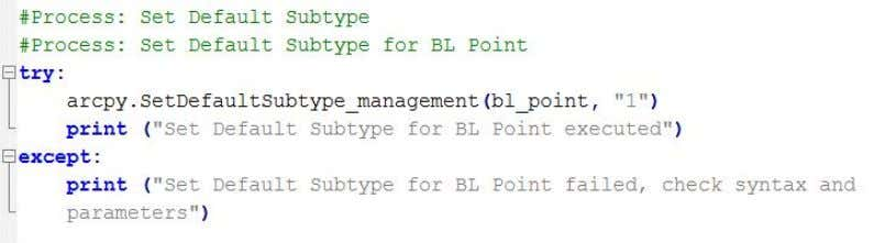 Practicum Project December 13, 2013 Figure 28 – Set Subtype Field and Add Subtype processes The