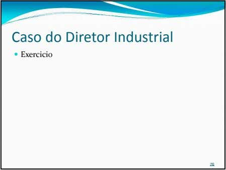 Caso do Diretor Industrial Exercicio 76