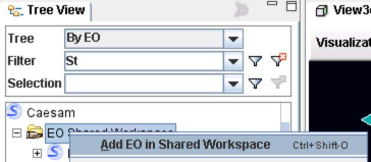 CaeSam Analyst User Help 2. In the Add Engineering Object in Shared Workspace dialog that appears