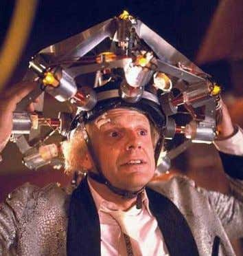 brain wave-analyzer in Back to the Future (1985) Shiny, angular and bedecked with light bulbs, the