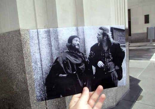 marries film photos to their locations as they are now. The Fisher King (1991) what inspired
