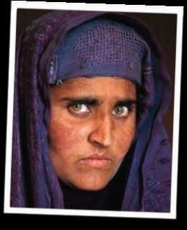 "1.""AFGHAN GIRL"" And of course the afghan girl, picture shot by National Geographic photographer Steve McCurry."