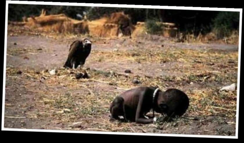 "3.""STRICKEN CHILD"" The photo is the ""Pulitzer Prize"" winning photo taken in 1994 during the Sudan"