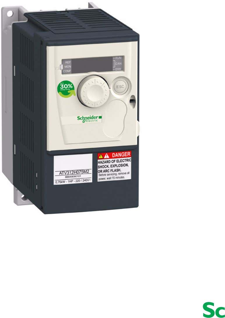 11/2008 Altivar 312 Variable speed drives for asynchronous motors Programming manual 05/2009 www.schneider-electric.com