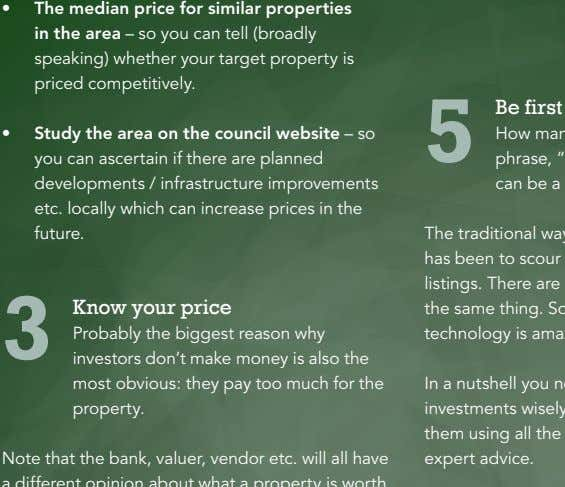 • The median price for similar properties in the area – so you can tell