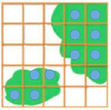 squares that would be completely covere d by that species • The squares that are marked