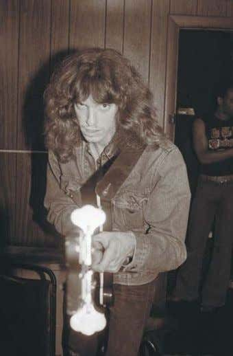 only known photo of Burton and Mustaine alone. © Bill Hale The Stone, San Francisco, March