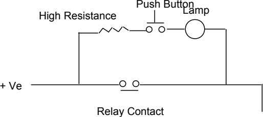 Push Button Lamp High Resistance + Ve Relay Contact