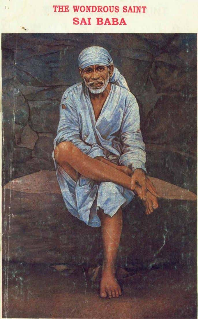 THE WONDROUS SAINT SRI SAI BABA BY PUJYASRI NARASIMHASWAMIJI