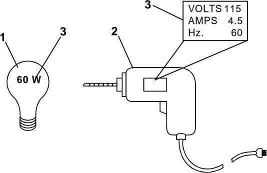 3 VOLTS 115 AMPS 4.5 2 Hz. 60 1 3 60 W