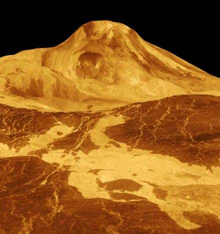 than Mercury One day on Venus is equal to 243 Earth days Maat Mons, a volcano