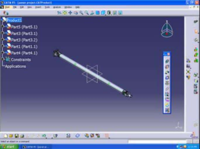 and design consideration from Toyota Qualis specifications. Catia Model Step2 : 3D FE Model Creation The