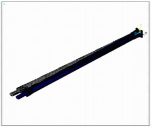 comparison. Steel drive shaft defromation result Steel shaft deformation results Kevlar/Epoxy drive shaft