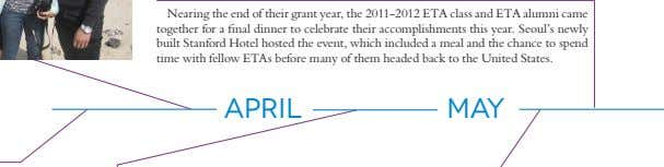 Nearing the end of their grant year, the 2011-2012 ETA class and ETA alumni came