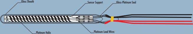 Glass Sheath Sensor Support Glass-Platinum Seal Platinum Lead Wires Platinum Helix