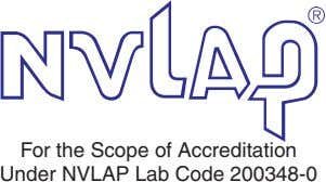 For the Scope of Accreditation Under NVLAP Lab Code 200348-0