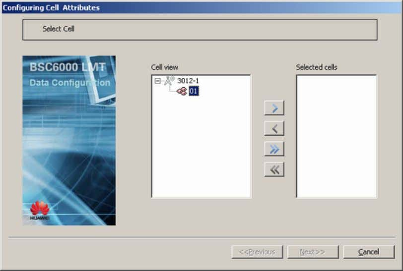Figure 48-8 Configuring Cells Attributes dialog box (1) Step 2 Double-click the target cell in the
