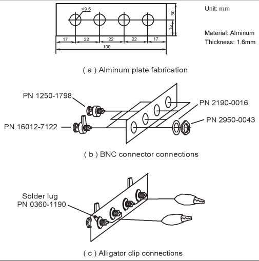 in Figure 3-7. Figure 3-6. User fabricated test fixture open/short methods Figure 3-7. Example of fixture