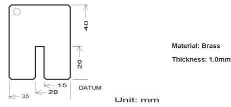 Figure 4-4. Example of shorting device. (Agilent PN: 5000-4226) 4-2-4. Open, short and load compensations