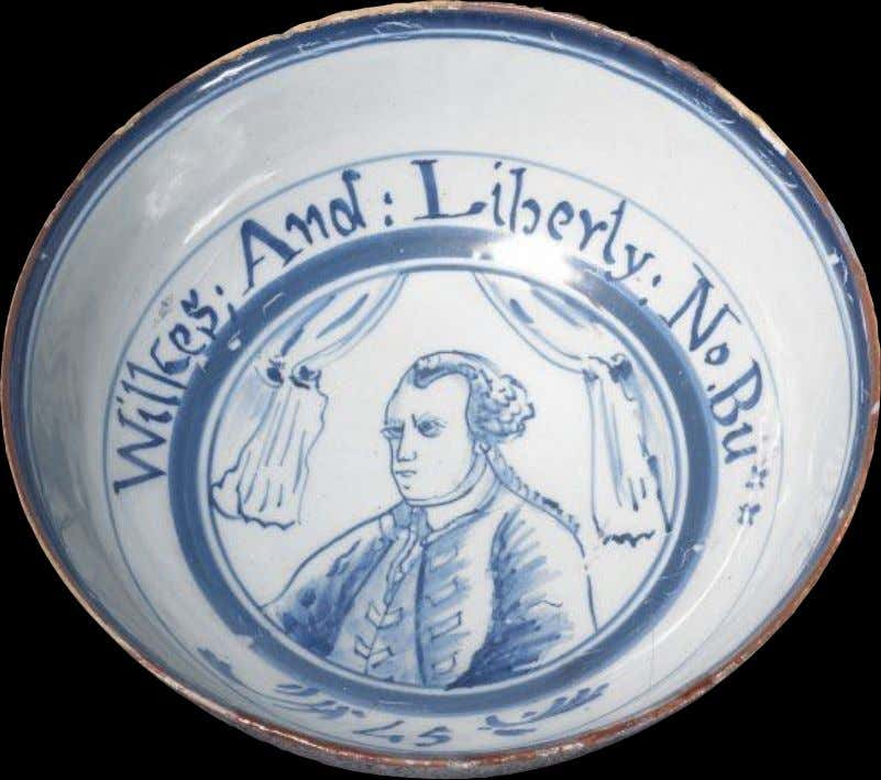 "English Tin Glazed Earthenware Punch Bowl Marked ""Wilkes And Liberty: No Bu ** c. 1765"