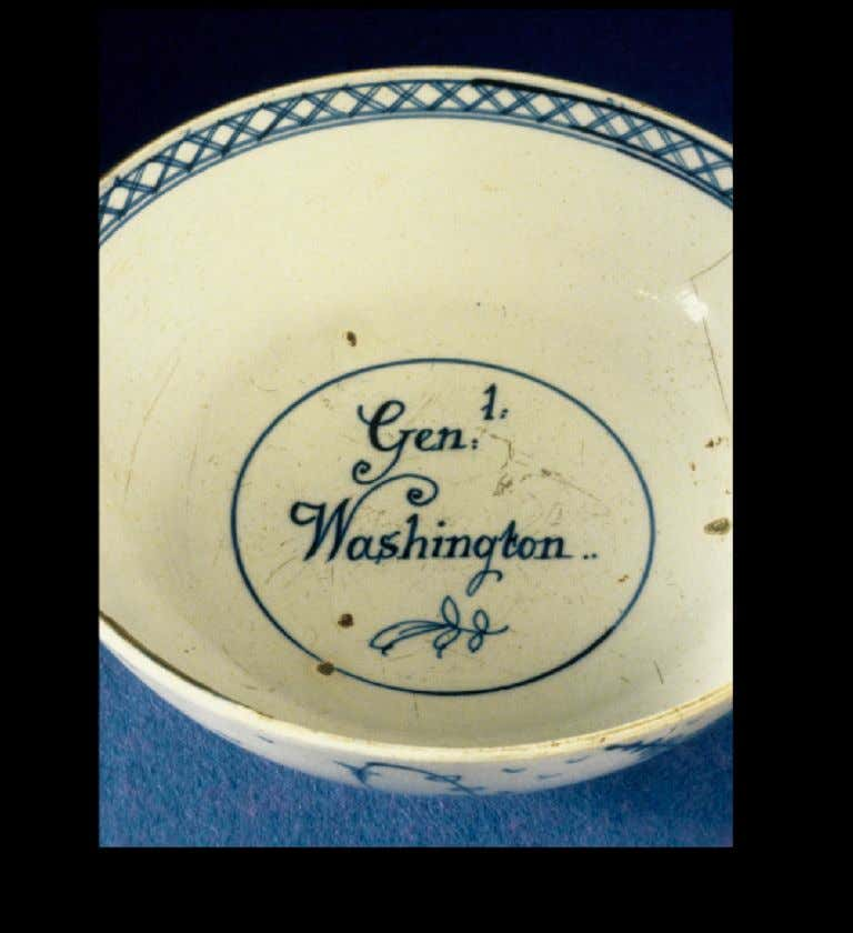 "English Tin Glazed Earthenware Punchbowl from Sta ff ordshire or Liverpool Marked ""Genl Washington"" c."
