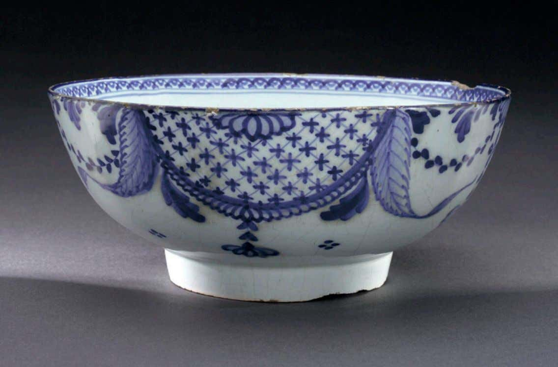 "English Tin Glazed Earthenware Punch Bowl Marked ""Trade and Navigation"" c. 1775 - 1780 (National"