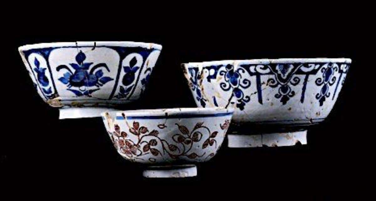 English Tin Glazed Earthenware Punch Bowls from London Excavated at the Edward Rumney / Stephen