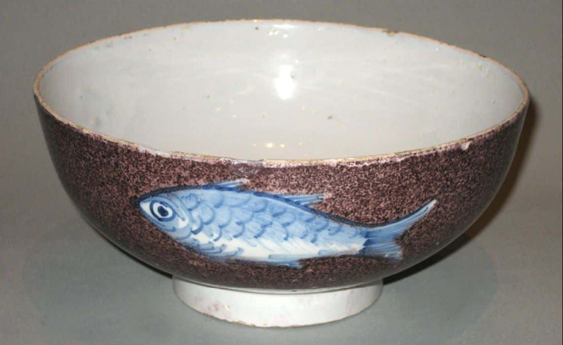 English Tin Glazed Earthenware Punch Bowl from Bristol c. 1730 - 1740 (Winterthur)