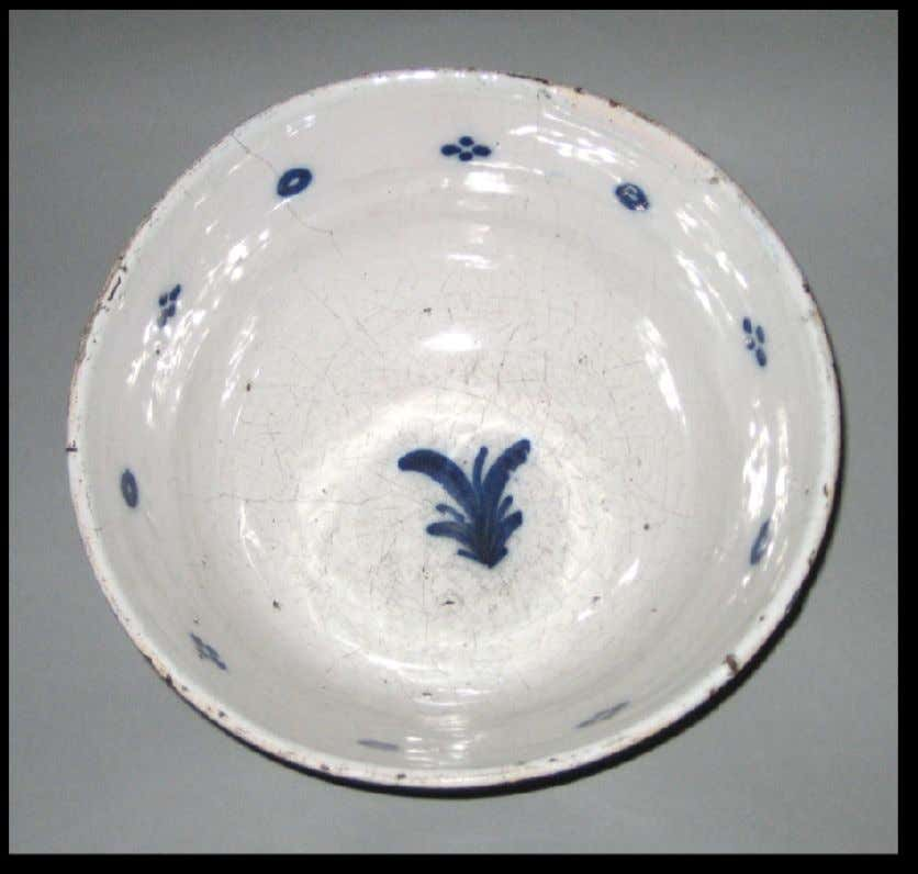 English Tin Glazed Earthenware Punch Bowl from London c. 1710 - 1730 (Winterthur)