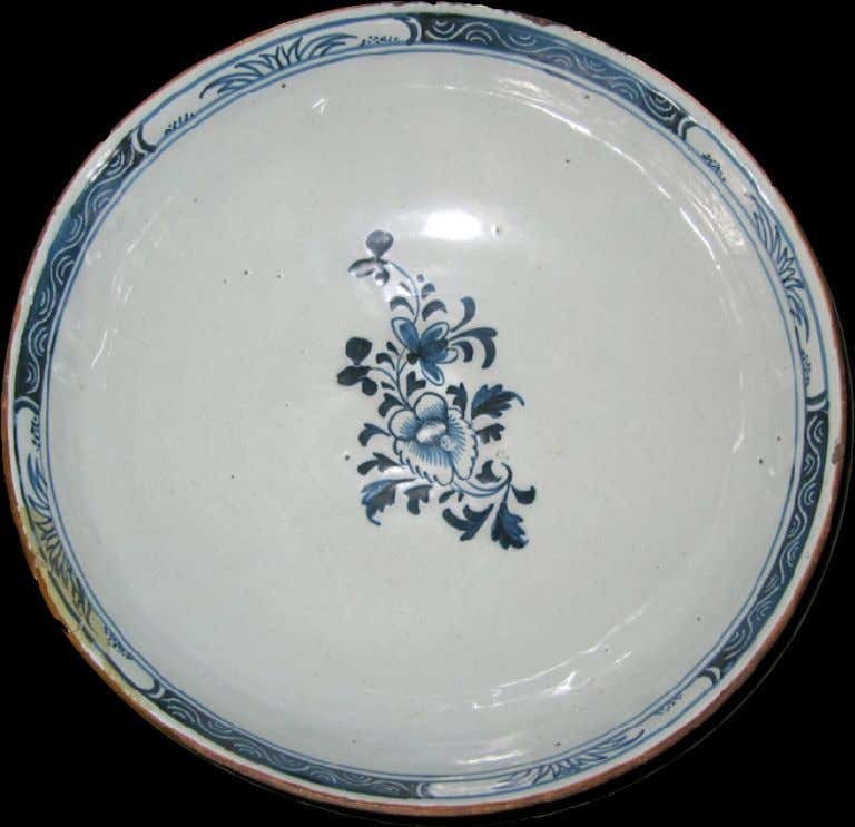 English Tin Glazed Earthenware Punch Bowl c. 1750 - 1760 (Winterthur)