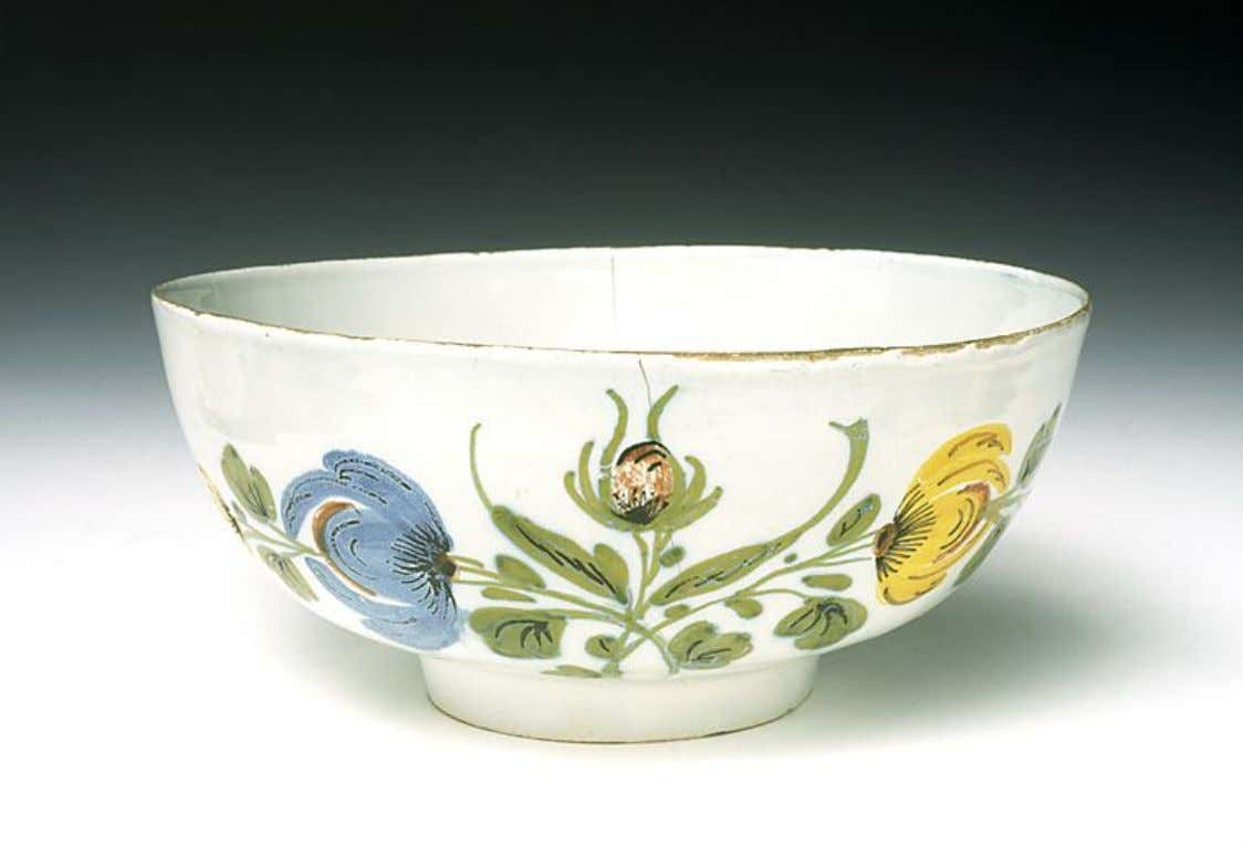 English Tin Glazed Earthenware Punch Bowl from Liverpool c. 1760 (Five Colleges & Historic Deerfield