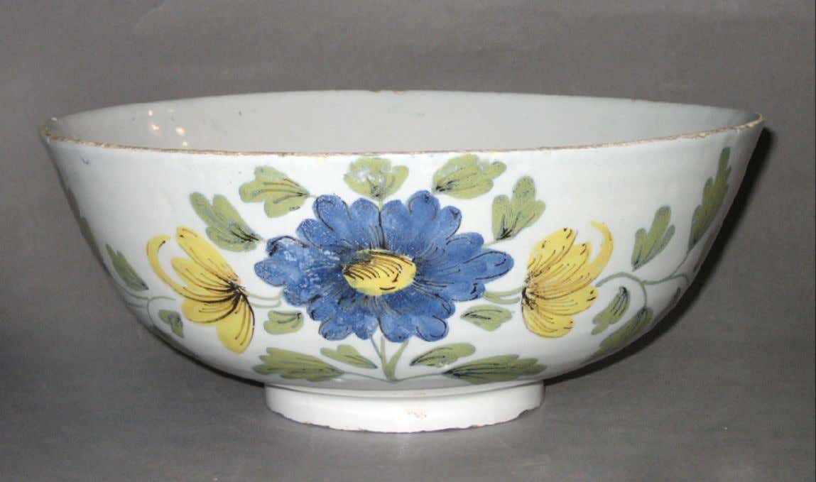 English Tin Glazed Earthenware Punch Bowl from Liverpool c. 1760 - 1770 (Winterthur)
