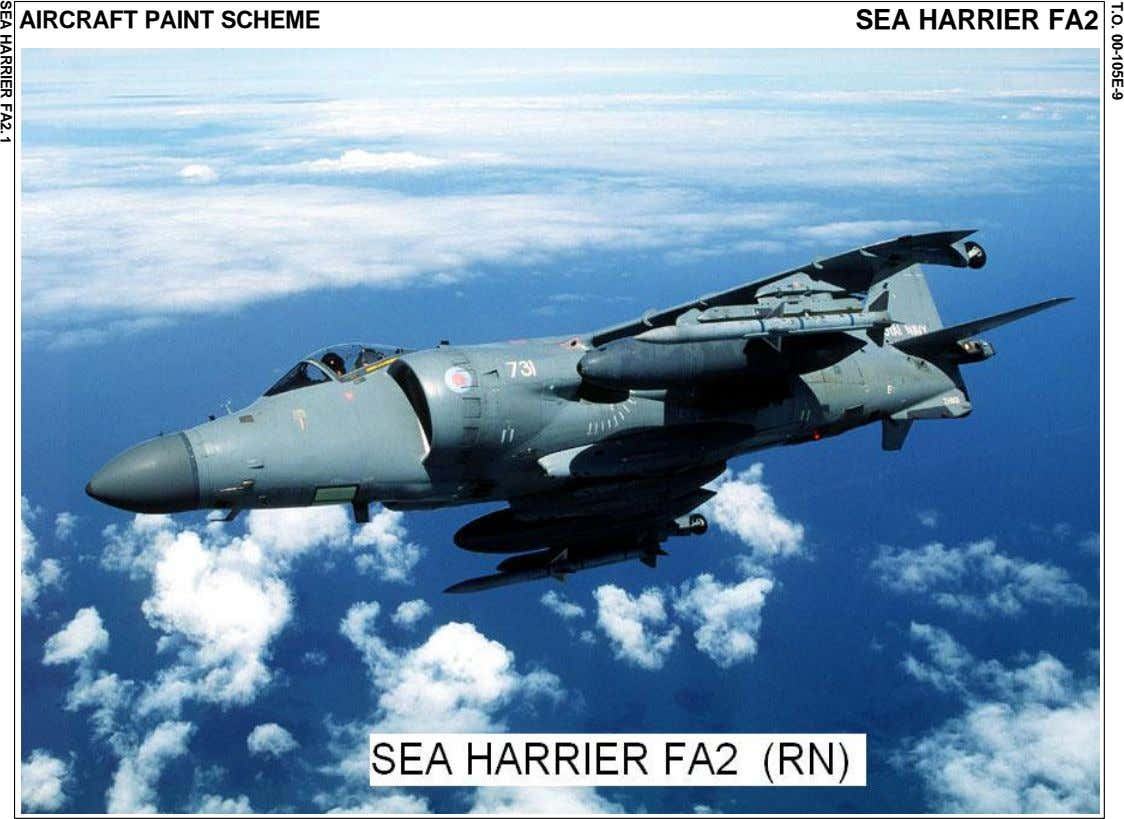 T.O. 00-105E-9 AIRCRAFT PAINT SCHEME SEA HARRIER FA2 SEA HARRIER FA2. 1