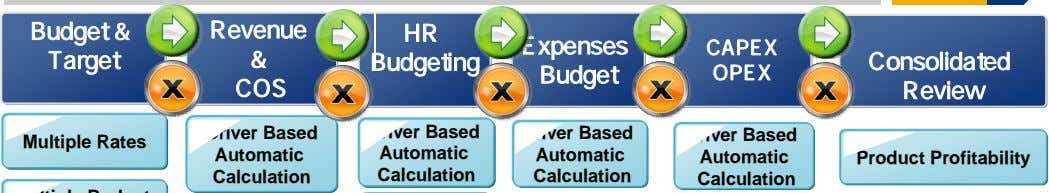 Budget & Revenue HR Expenses CAPEX Target & Budgeting Consolidated Budget OPEX COS Review Driver