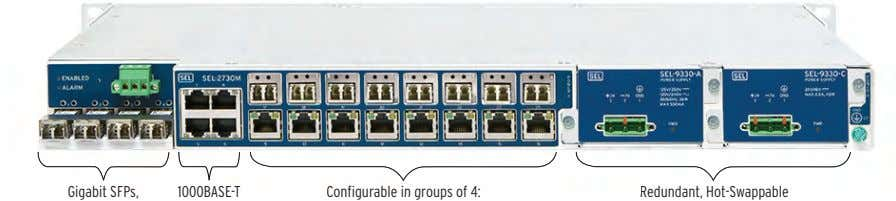 Gigabit SFPs, Gi abit SFPs 1000BASE-T 1000BASE-T Configurable in groups of 4: Confi urable in