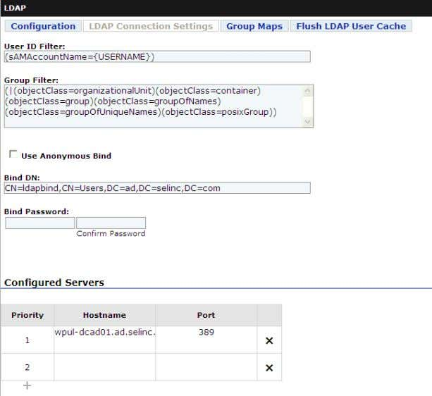 Managing Users Centralized User Accounts with LDAP 3.7 Figure 3.5 LDAP Communication Settings The LDAP Enabled