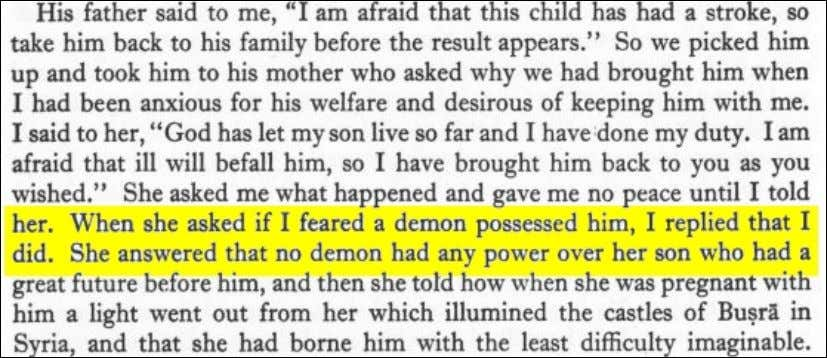 "Life of Muhammad"", pg. 72. Click image for context. Aisha's devil made her jealous of Moe"