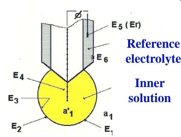 Reference electrolyte Inner solution