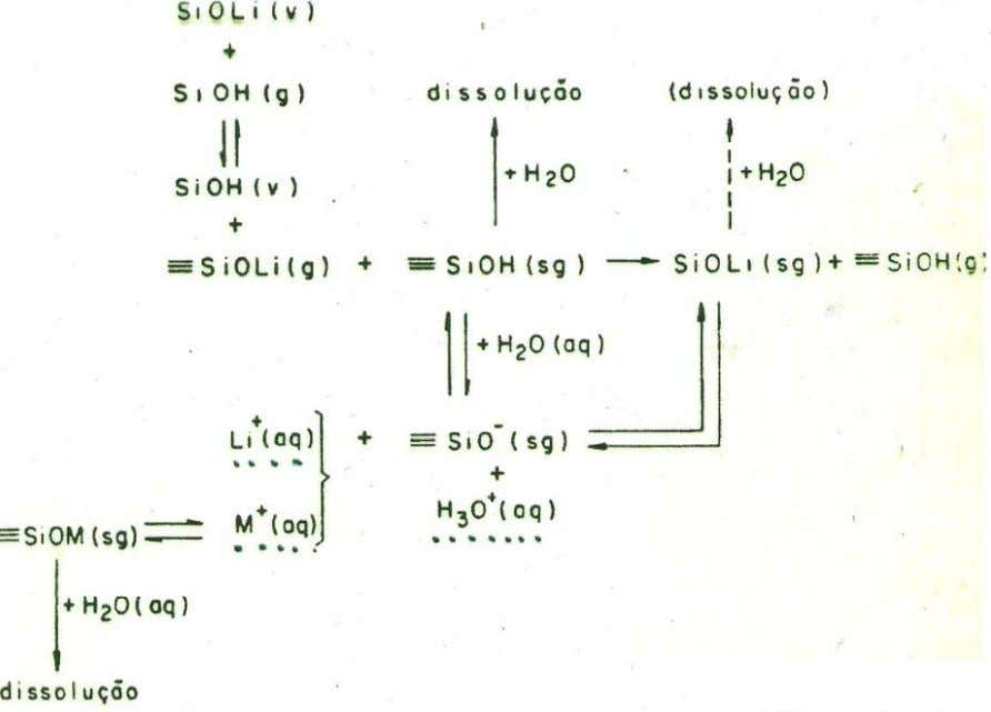 Potentiometric Methods: Glass Selective Electrodes Schematic representation of the reactions in a glass membrane aq =