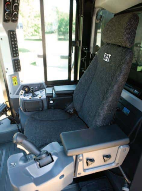 Operator Environment Seat The Cat Optimized Seating System is 6-way adjustable to accommodate all-sized operators. The