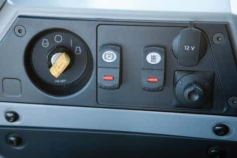 one yellow roller knob/tab is included. Ignition Console The ignition console is new on the K