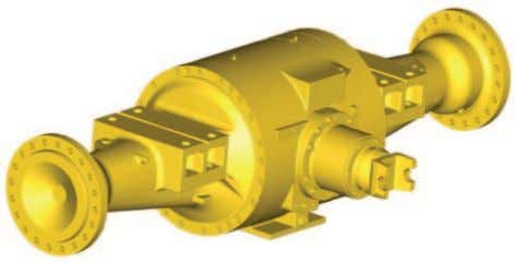 The midship bearing is a spherical roller bearing. Axles The 966K and 972K axles are designed
