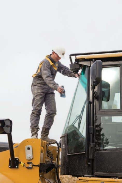 Safety Window Cleaning Platform To help provide a safe means for cleaning the windshield, a new
