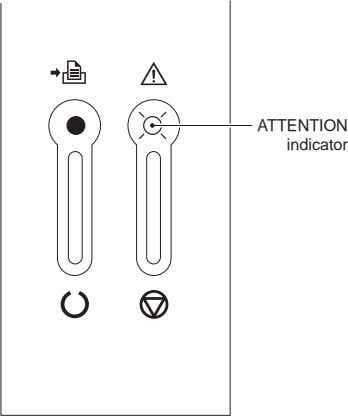ATTENTION indicator