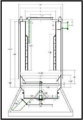 by an automatic, motor-driven ash removal system. Figure 4.5 Downdraft Grasifier 4.3.2 Cyclone separator The