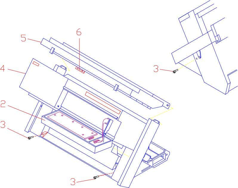 Front Cover Parts following the above instructions in reverse order. Figure 3.4 Main Front Cover Parts