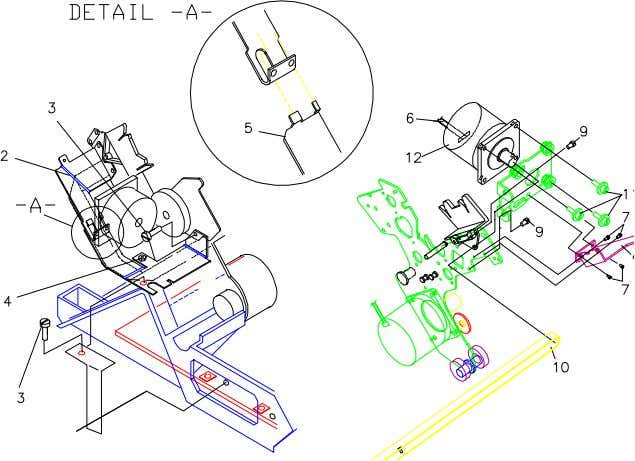 requires an appropriate carriage belt adjustment (refer to chapter 4). Figure 3.12 Carriage Motor COMPAQ LA4500