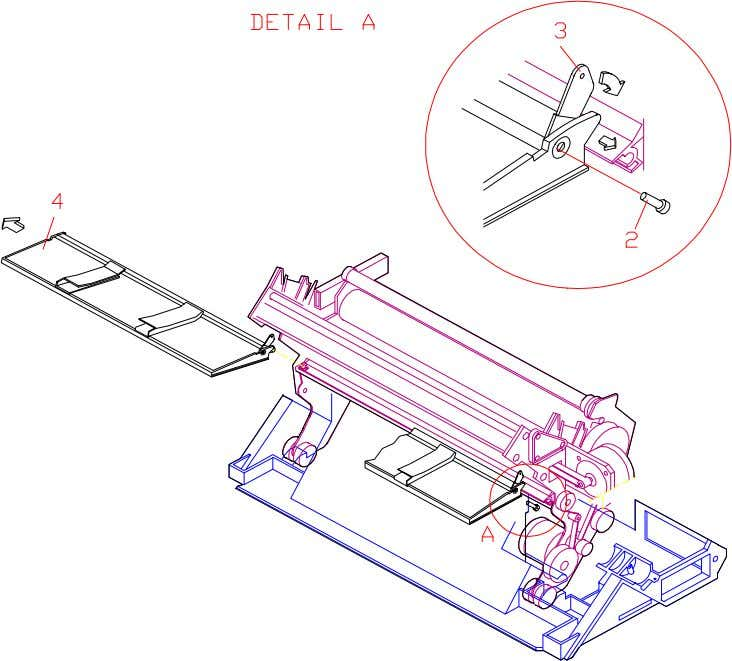 the cut sheet assy following the above instructions in reverse order. Figure 3.14 Cut Sheet Assembly