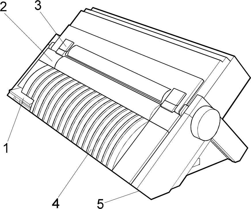 Unit Cover 5. AC Power Inlet 3. Paper Stacker Covers Fig. 1.2 Basic Printer Parts Location