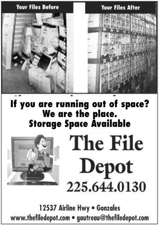 If you are running out of space? We are the place. Storage Space Available